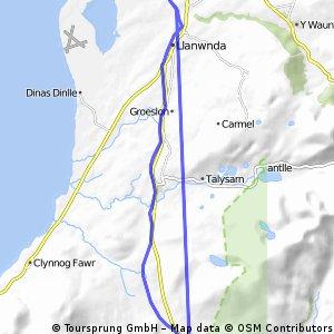Bahnradweg Caernafon-Bryncir