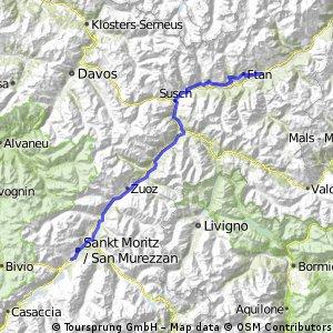 St. Moritz - Scuol (signed bike road 6)