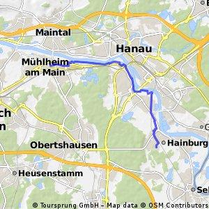Mühlheim Tentrum - Hainstadt Gartenstr.