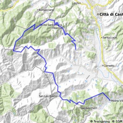 Umbria 2 Steve's gaff to Gioielo 65km 2000m