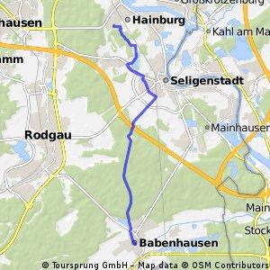 Hainstadt Großsporthalle - Babenhausen Zentrum