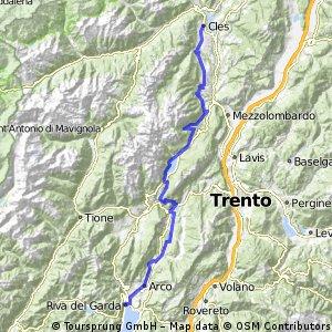 2014 Alpencross 6. Etappe Cles nach Riva del Garda