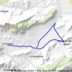 Met omweg van La Canalosa naar Nieves en rechtstreeks terug.