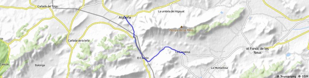 Van Alguena naar La Canalosa