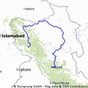 Mandi - Manila - Leh - Kargil - Srinagar - Udhampur