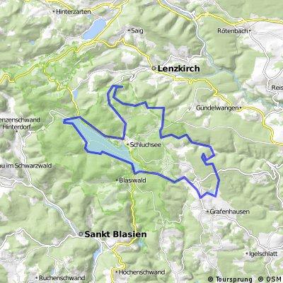 Schlüchtsee - Sommerau - Schluchsee