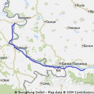6ª Etapa 8/8 de Dalj (Croacia) a Banostor (Serbia)