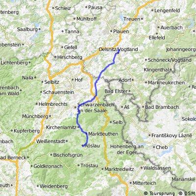 Roslau to Oelsnitz