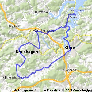 42km course for beginner/moderate cyclist