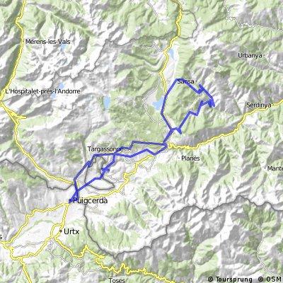 Puigcerda - Angoustrine - Font Romeu - La Llagonne -  Matemale -  Coll de la Creu - Railleu - Ayguatebia -  La Llagonne -  Bolquere-  Font Romeu - Egat  -  Esta