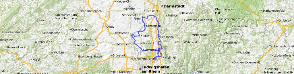 Map Of Viernheim Germany.Viernheim Ried Bergstrasse Vienheim Bikemap Your Bike Routes