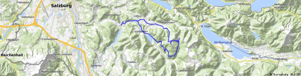 Wiestal - Hintersee - Schafbergalm - Loibersbacher Höhe - Faistenau - Wiestal