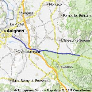 Avignon bis Radroute