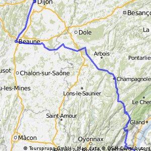 Dijon to Geneva