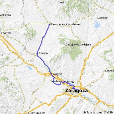 Zaragoza nach Ejea wie gefahren