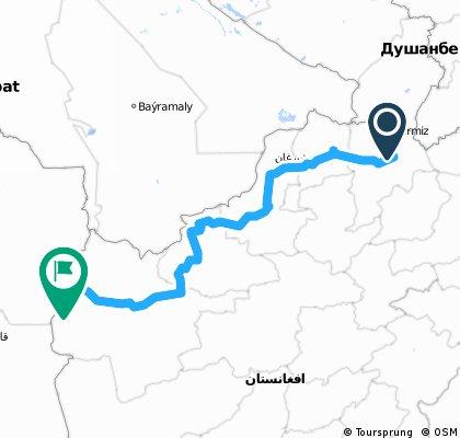 across Afganistan 1  992 km