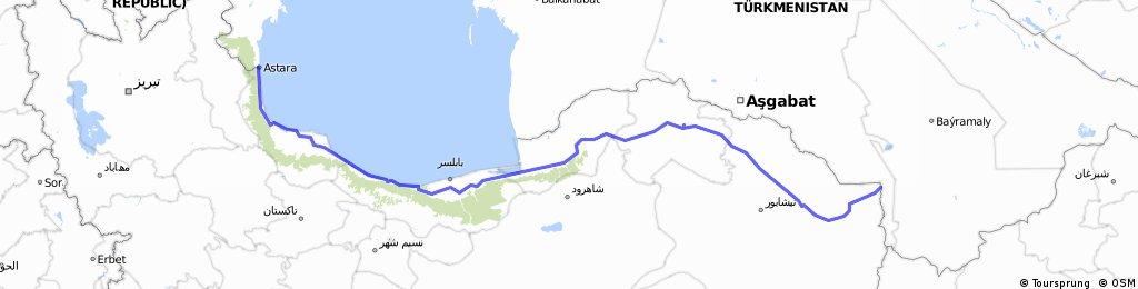 across Iran 1  1484 km