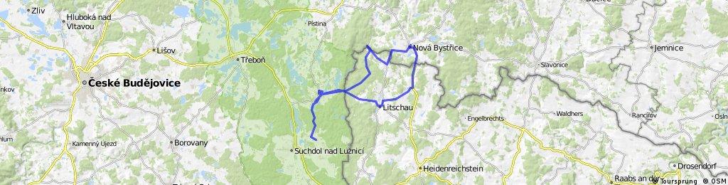 Nová Bystřice - Rottal - Chlum u Třeboně - Klikov - Chlum - Litschau - Illmanns - Nová Bystřice