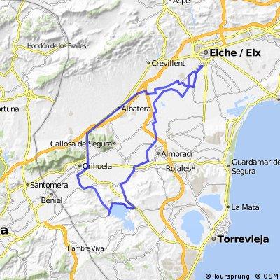 Tiro de Pichón-Orihuela-Pantano de la Pedrera-Tiro de Pichón