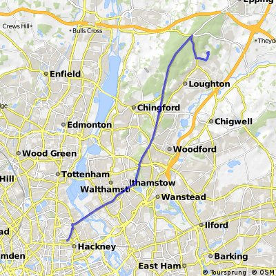 Hackney to Debden