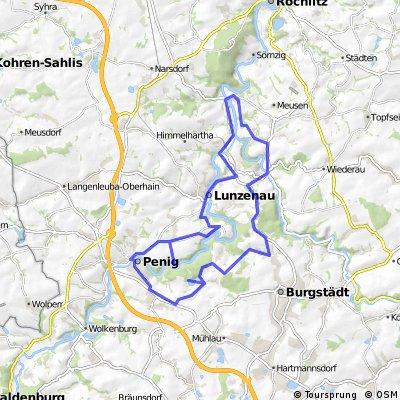 Rochsburg Burgstädt Höllmühle Amerika Rundkurs 40 km