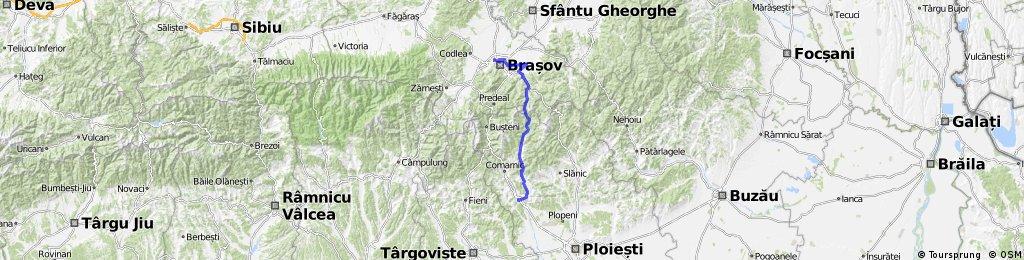 Brasov-sacele-lacul tarlung-drumul 102I-valea doftanei-gara campina