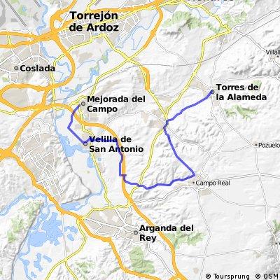 Torres de la Alameda - Loeches - Campo Real - Velilla de San Antonio - Mejorada del Campo