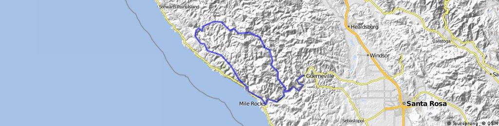 Guerneville Cazadero Loop