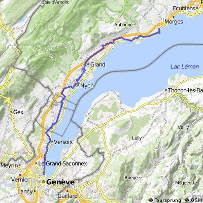1. Halbetappe Genf - Saint Prex
