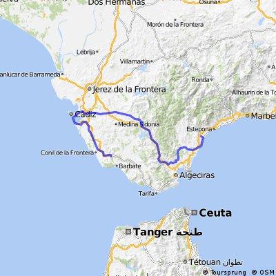 4ª Eta Manilva , Vejer de la Frontera 205 km
