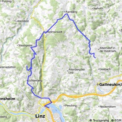 Hafenstraße - GIS (über Verdidiele) - Hellmonsödt - Reichenau - Alberndorf