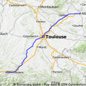 Etape 2 : St Gaudens-Albi