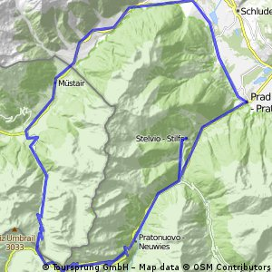 Stilfs Dorf - Passo dello Stelvio - Santa Maria - Glurns - Prad & zurück