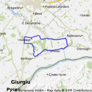 Calugareni-Mihai Bravu-Baneasa Giurgiu-Greaca-Hoatarele-Comana-Branistari-Calugareni