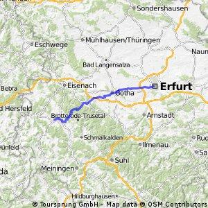 Erfurt Domplatz - Bad Salzungen Burgsee