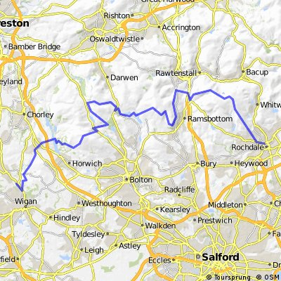 Rochdale to Wigan mostly off road