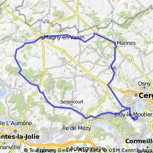 Circuit dans le Vexin Français