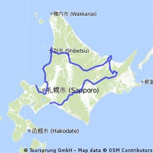 1000km from Tomakomai to Otaru