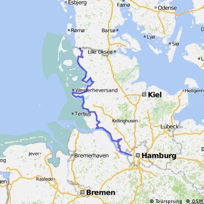 North Sea Cycle Route Hamburg-Niebüll