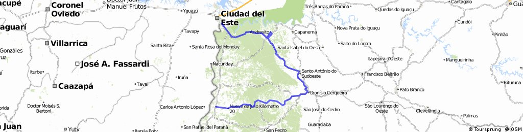 Puerto Iguazu - el Dorado - 9 dias biciturismo Misiones - Opcion 1