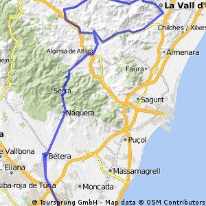 Alfondeguilla por La Vall d'Uixo