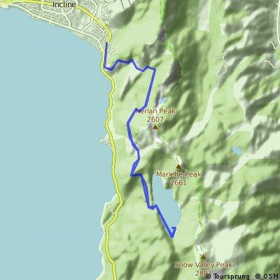 Flume Rim Trail (Incline Village-Marlette Lake)
