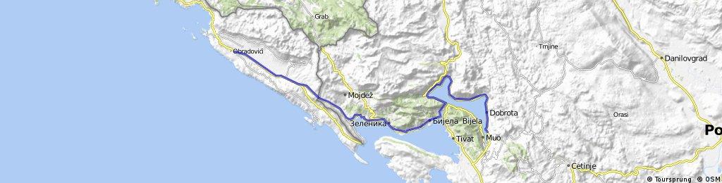 Dubrovnik Airport to Kotor