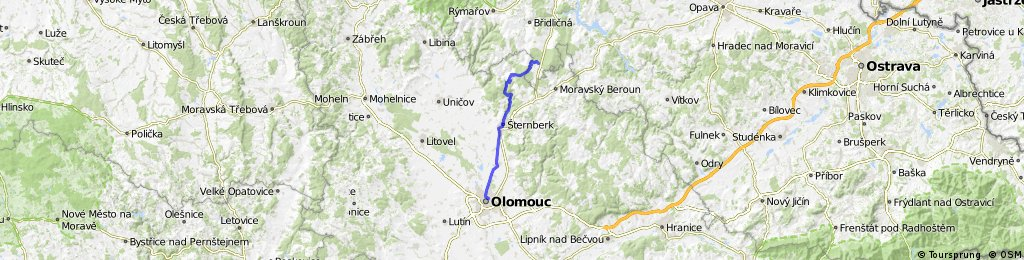 Dětřichov - Olomouc