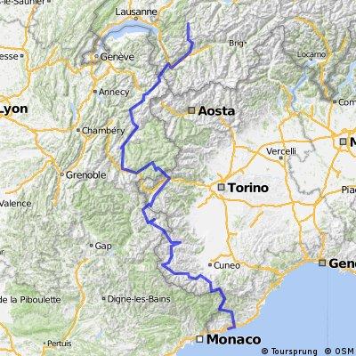WAC 2014 gesamt 14 Etappen 725 km