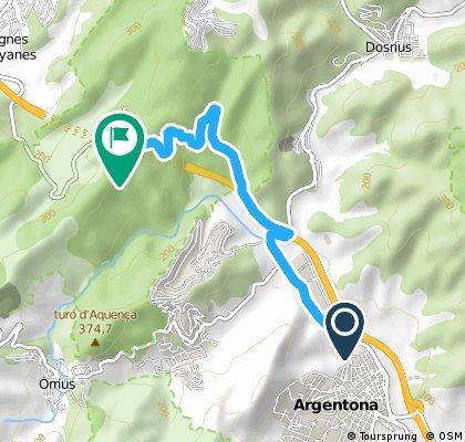 CRONO - ESCALADA  Coll del Parpers (Argentona) 6 km. 2014