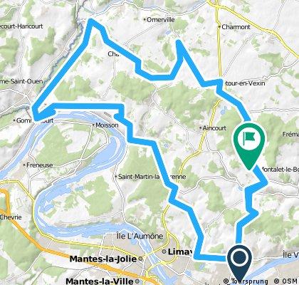 Vexin 01 - Gargenville/RocheGuyon/Villarceaux/Gargenville