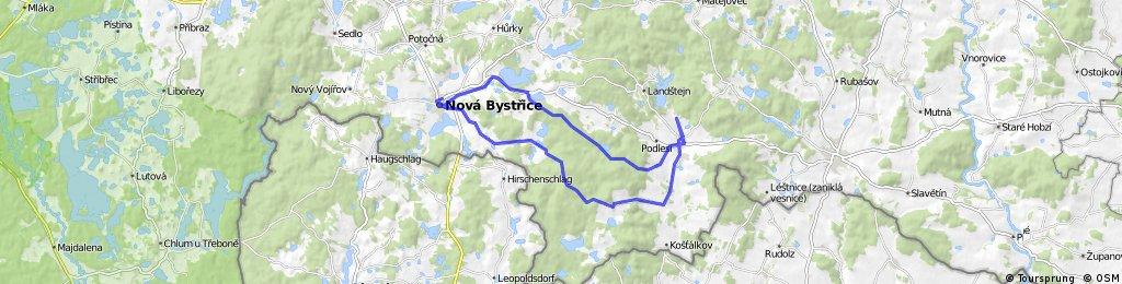Nová Bystřice - Staré Město (bikebar) - Nová Bystřice
