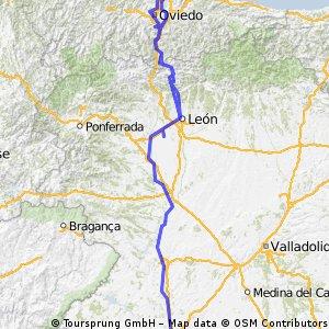 Via plata, Salamanca Gijon
