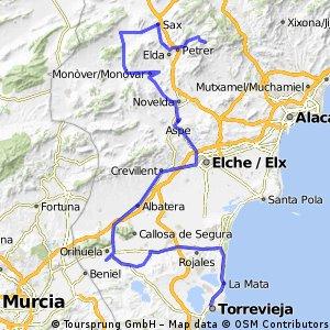 9ª Eta torrevieja , Chorret de Catí 152 km
